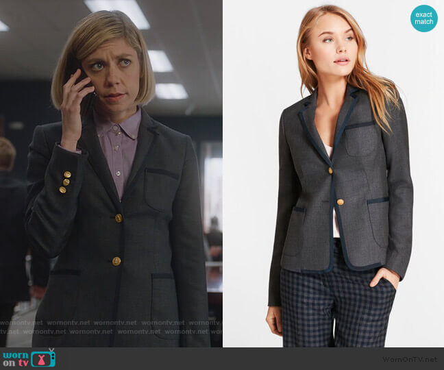 Wool Twill Rowing Blazer by Brooks Brothers worn by Kate Littlejohn (Susannah Flood) on For the People