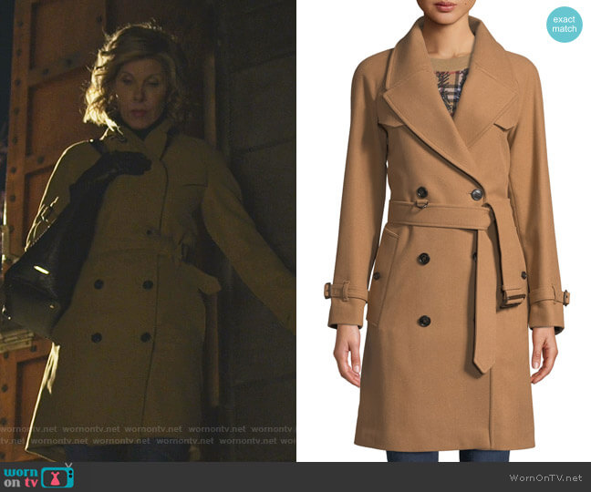 Cranston Trench Coat by Burberry worn by Diane Lockhart (Christine Baranski) on The Good Fight
