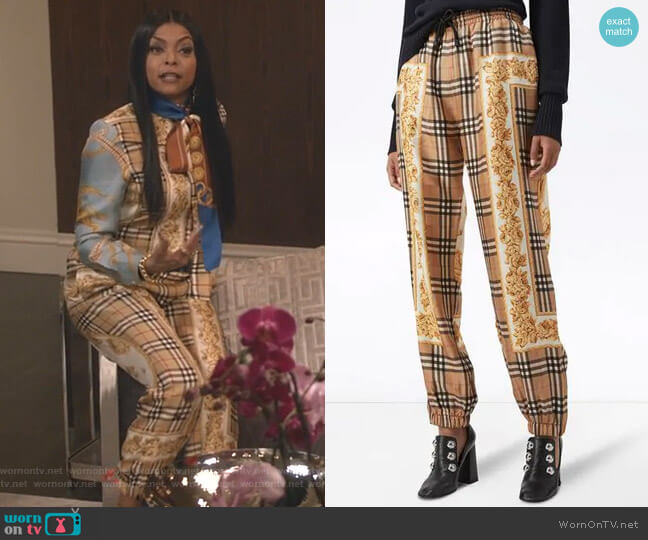 Scarf Border Vintage Check Silk Drawcord by Burberry worn by Cookie Lyon (Taraji P. Henson) on Empire