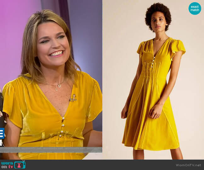 Camilla Velvet Dress by Altuzarra worn by Savannah Guthrie  on Today