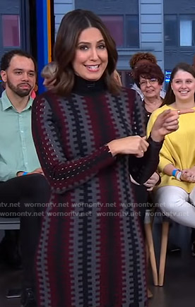 Cecilia's turtleneck knit dress on Good Morning America