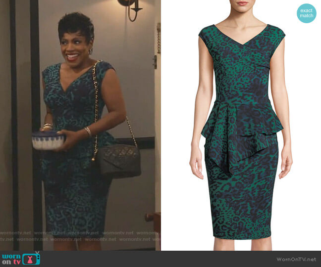 Tini Dress by Chiara Boni La Petite Robe worn by Rose (Sheryl Lee Ralph) on Fam