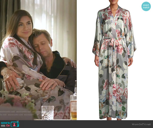 Jolie Robe by Christine Lingerie worn by Cristal Jennings (Daniella Alonso) on Dynasty