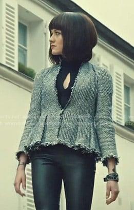 Clary's tweed peplum jacket on Shadowhunters