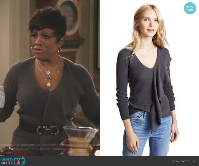 Domeeh Cashmere Sweater by Club Monaco worn by Rose (Sheryl Lee Ralph) on Fam