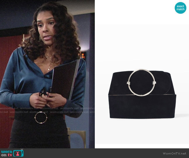 Club Monaco Elowen Belt worn by Kerry Johnson (Alice Hunter) on The Young & the Restless