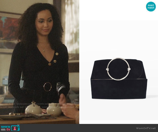 Club Monaco Elowen Belt worn by Macy Vaughn (Madeleine Mantock) on Charmed