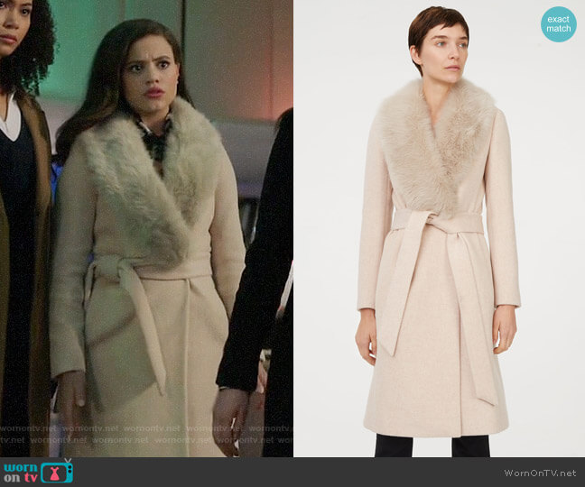 Club Monaco Lenoria Coat worn by Maggie Vera (Sarah Jeffery) on Charmed