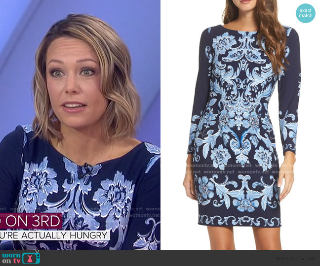 Crepe Sheath Dress by Eliza J worn by Dylan Dreyer  on Today