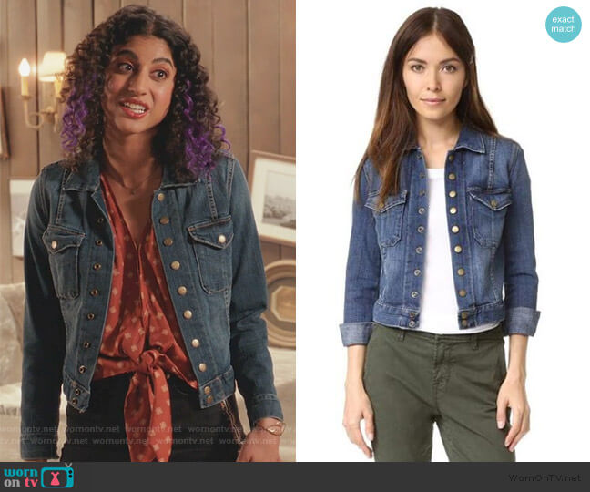 The Snap Jacket by Current/Elliott worn by Heather Davis (Vella Lovell) on Crazy Ex-Girlfriend