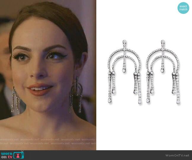 Kamil Dangle Earrings by Dannijo worn by Fallon Carrington (Elizabeth Gillies) on Dynasty