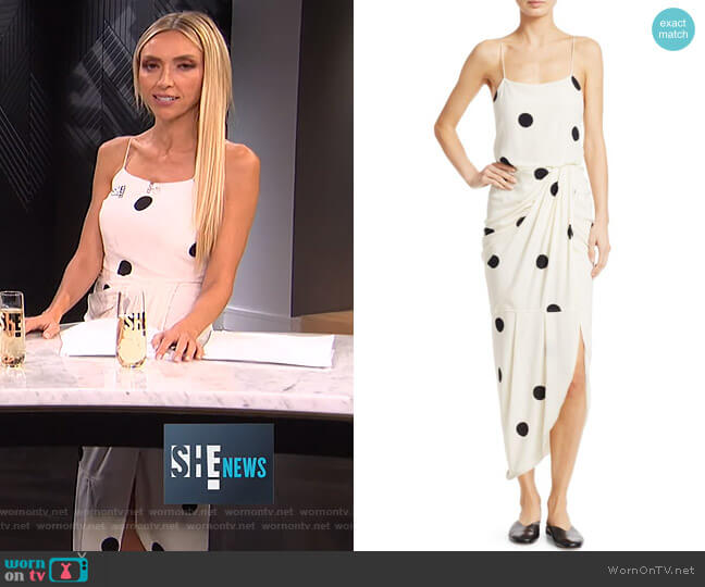 Cami Polka-Dot Silk-Blend Maxi Dress by Derek Lam 10 Crosby worn by Giuliana Rancic  on E! News