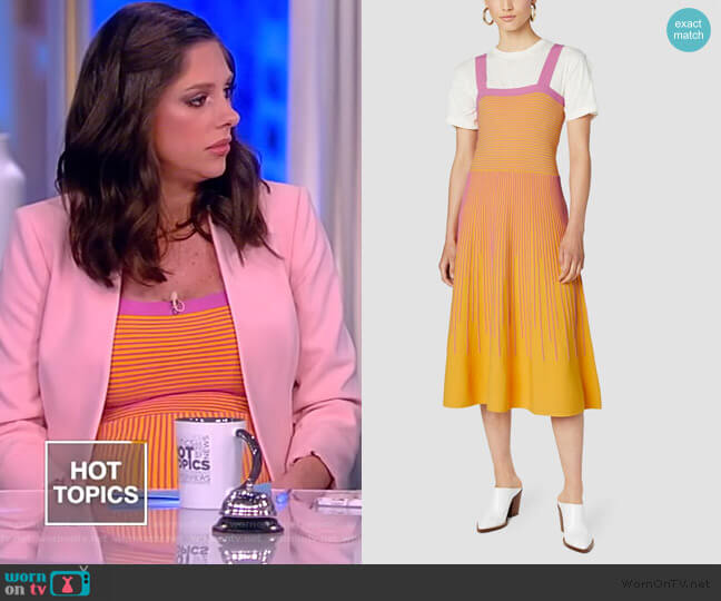Stripe Knit Cami Dress by Derek Lam 10 Crosby worn by Abby Huntsman  on The View