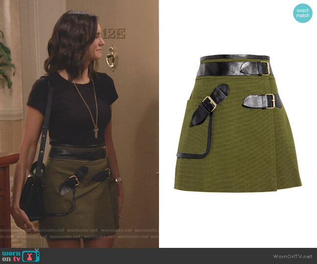 Army Wrap Mini Skirt by Derek Lam 10 Crosby worn by Clem (Nina Dobrev) on Fam