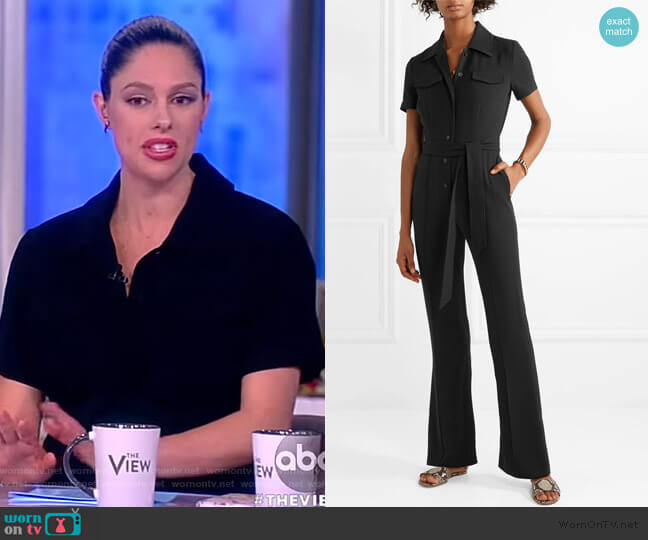 Daisy crepe jumpsuit by Diane Von Furstenberg worn by Abby Huntsman (Abby Huntsman) on The View