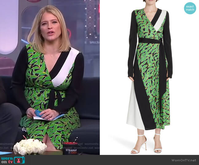 Maureen Dress by Diane von Furstenberg worn by Sara Haines  on Good Morning America