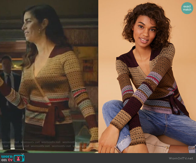 Long Sleeve Wrap Sweater by Diane von Furstenberg worn by Susan Sampson (Ana Ortiz) on Whiskey Cavalier