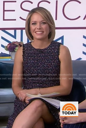 Dylan's tweed sleeveless dress on Today