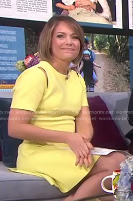 Dylan's yellow cutout mini dress on Today