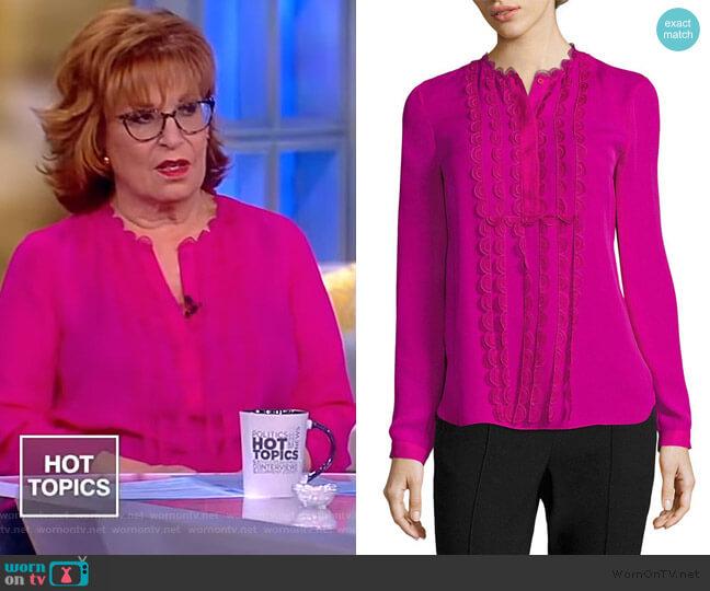 Antonella Blouse by Elie Tahari worn by Joy Behar (Joy Behar) on The View