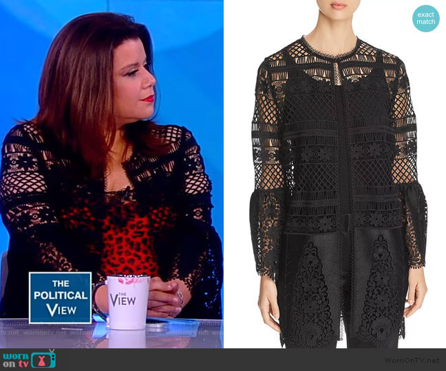 Jaya Crochet Lace Jacket by Elie Tahari worn by Ana Navarro  on The View