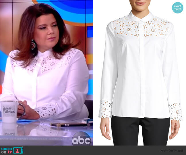 Zila Paneled Shirt by Elie Tahari worn by Ana Navarro  on The View