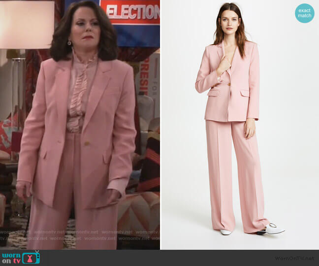 Carson Blazer and Harmon Pants by Elizabeth and James worn by Karen Walker (Megan Mullally) on Will & Grace