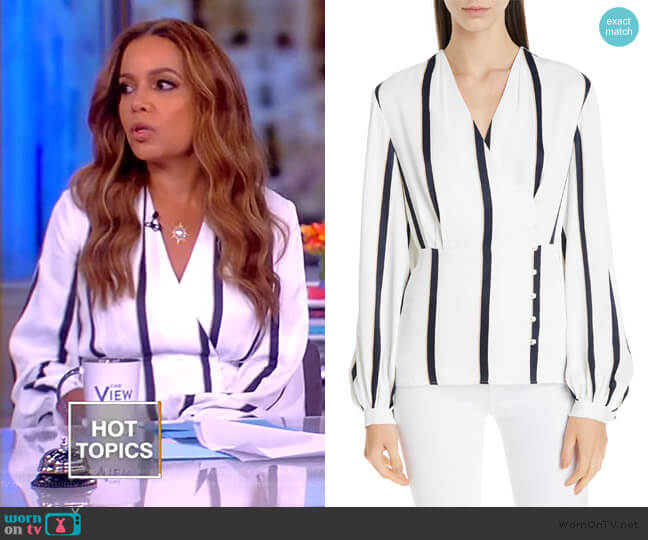 Alaine Top by Equipment worn by Sunny Hostin  on The View