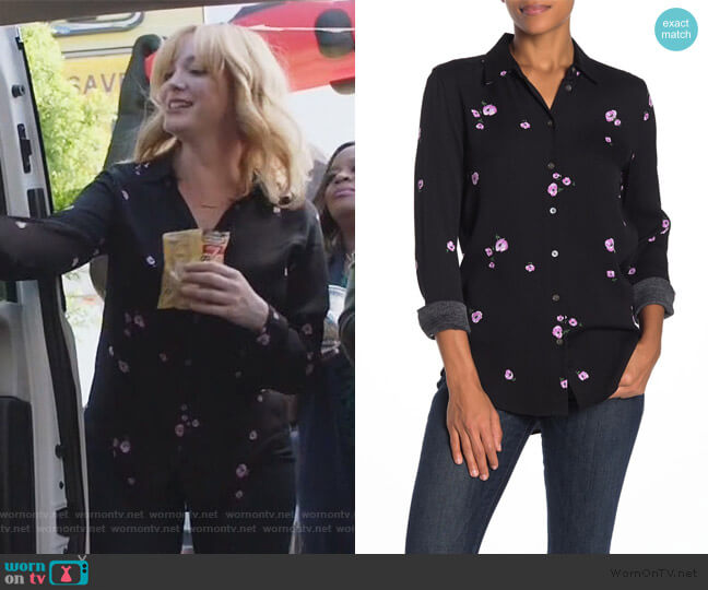 Essential Floral Button Down Shirt by Equipment worn by Beth Boland (Christina Hendricks) on Good Girls