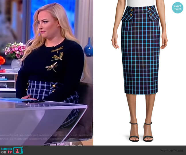 Redka Windowpane Pencil Skirt by Escada worn by Meghan McCain  on The View