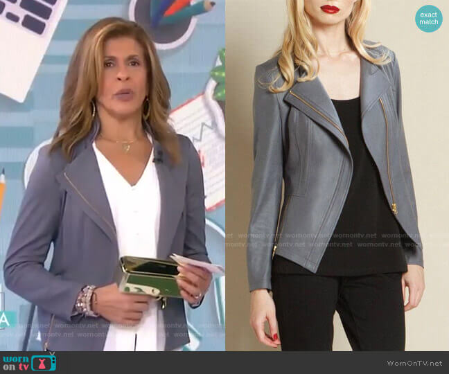 Faux Leather Jacket by Clara Sunwoo worn by Hoda Kotb  on Today