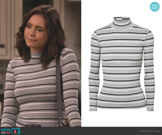 Stripe Turtleneck by Frame worn by Clem (Nina Dobrev) on Fam