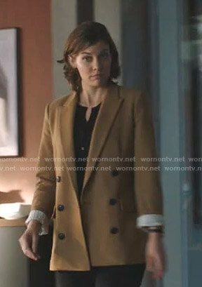 Frankie's camel blazer on Whiskey Cavalier