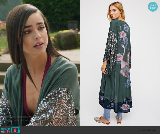 Sun Drop Jacket by Free People worn by Ava Jalali (Sofia Carson) on PLL The Perfectionists