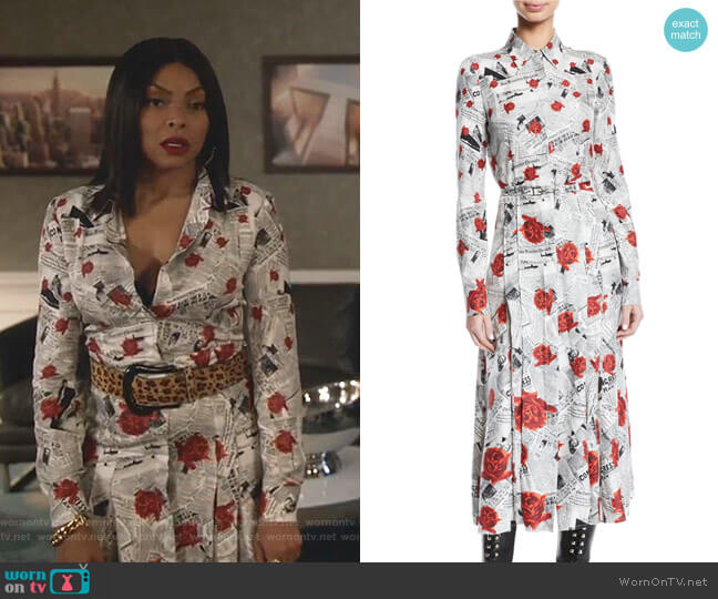 Jane Shirtdress by Gabriela Hearst worn by Cookie Lyon (Taraji P. Henson) on Empire