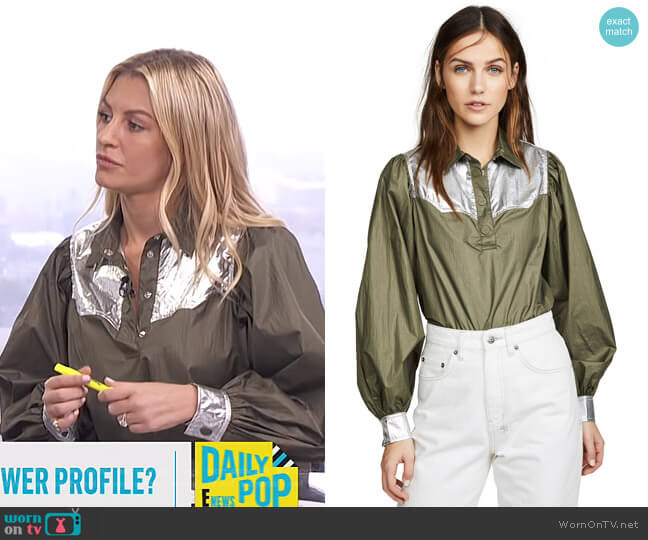 Two Way Tech Top by Ganni worn by Morgan Stewart  on E! News