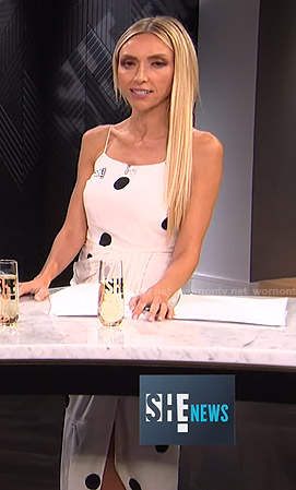 Giuliana's white polka dot midi dress on E! News