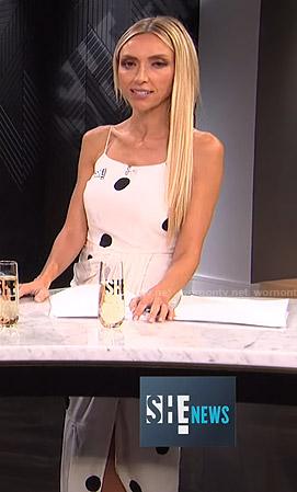 Giuliana's white polka dot midi dress on E! News