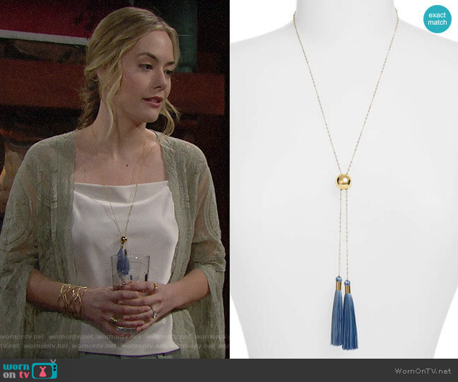 Gorjana Carmen Necklace worn by Hope Logan (Annika Noelle) on The Bold & the Beautiful