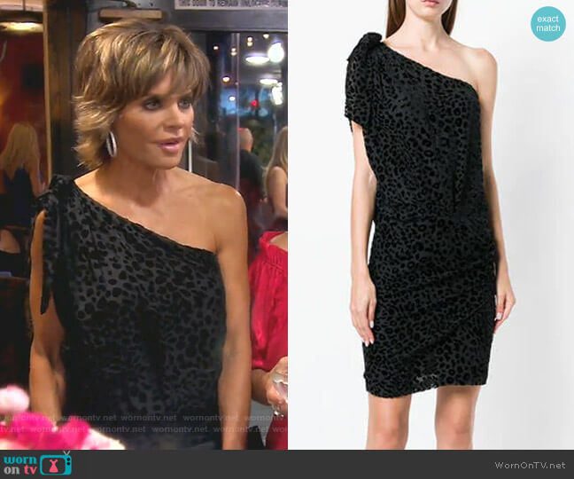 One Shoulder Dress by Iro worn by Lisa Rinna  on The Real Housewives of Beverly Hills