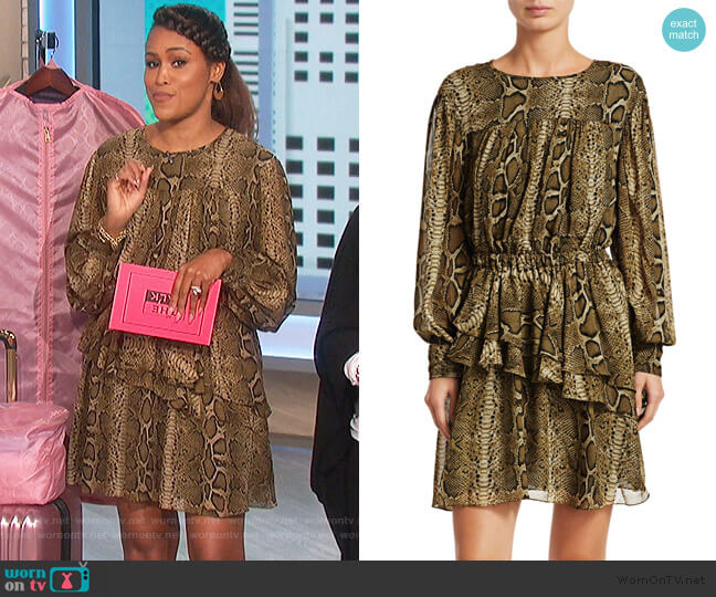 Java Python Print Mini A-Line Dress by Isabel Marant Etoile worn by Eve  on The Talk