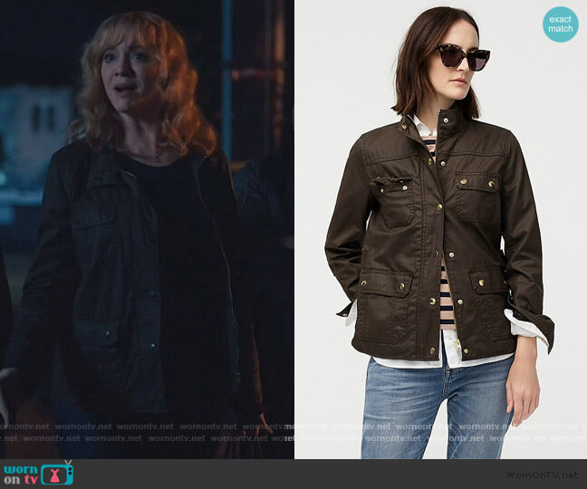 Downtown Field Jacket by J. Crew worn by Beth Boland (Christina Hendricks) on Good Girls