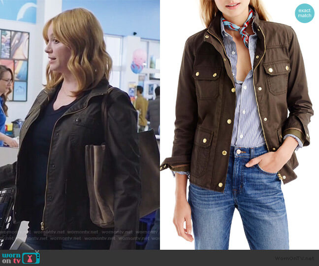 Downtown Field Jacket by J. Crew worn by Beth Boland (Christina Hendricks) on Good Girls