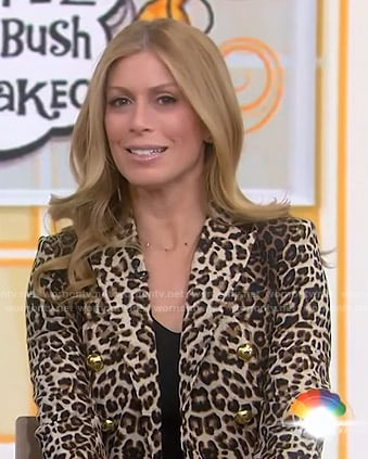 Jill's leopard print suit on Today