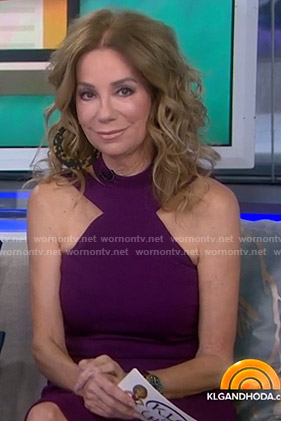 Kathie's purple halter neck dress on Today