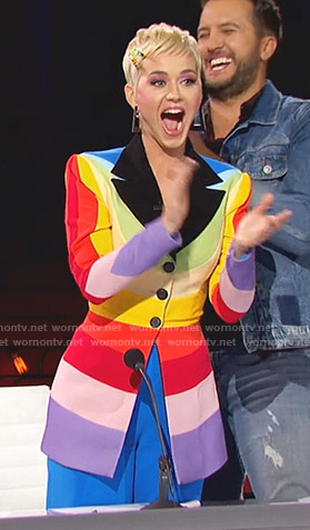 Katy's rainbow blazer on America Idol