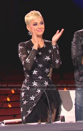 Katy's sequined tulle hem dress on American Idol