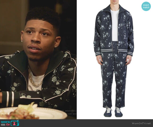Cheongsam Flower Track Jacket and Sweatpants by Kenzo worn by Hakeem Lyon (Bryshere Y. Gray) on Empire