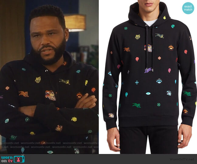 Multi Icons Hoodie by Kenzo worn by Anthony Anderson on Grown-ish