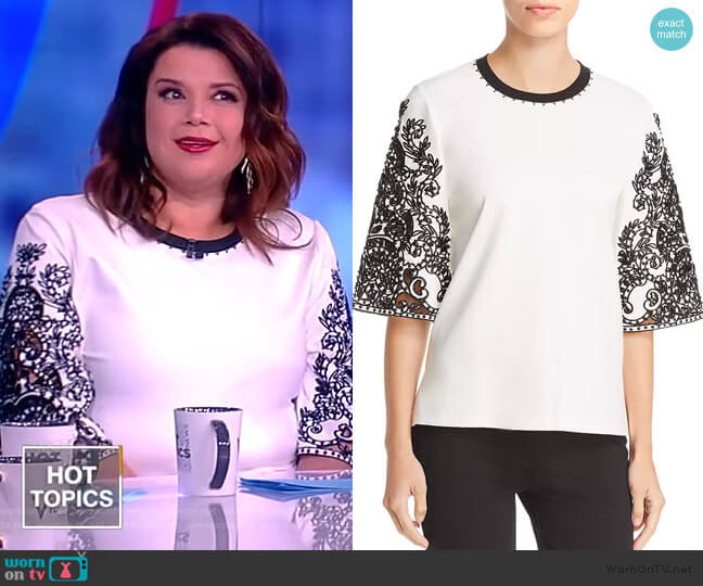 Dora Embroidered Blouse by Kobi Halperin worn by Ana Navarro  on The View